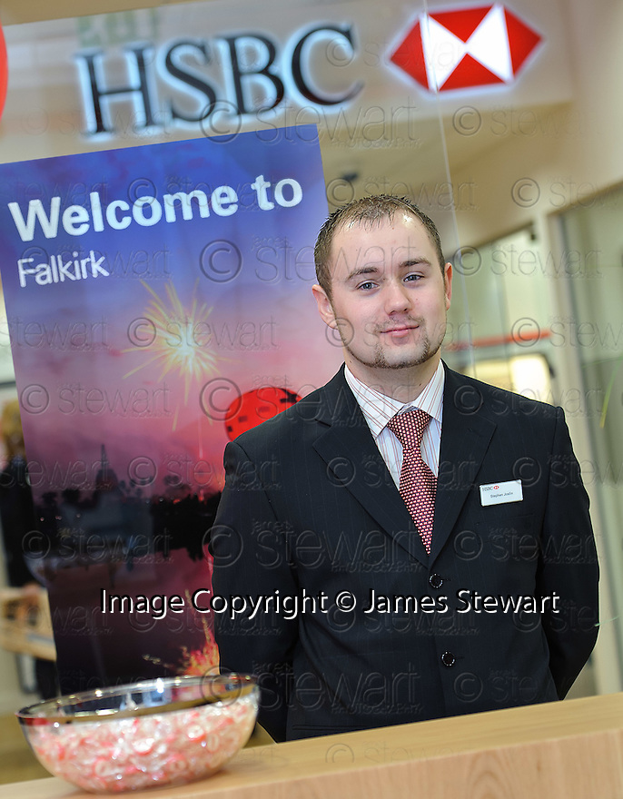 HSBC Falkirk :  Customer Service Officer, Stephen Joslin.