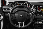 Car pictures of steering wheel view of a 2015 Peugeot 208 Allure 5 Door Hatchback Steering Wheel