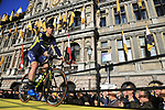 Mathew Hayman (AUS) Orica-Scott team on stage at sign on before the 101st edition of the Tour of Flanders 2017 running 261km from Antwerp to Oudenaarde, Flanders, Belgium. 26th March 2017.<br /> Picture: Eoin Clarke | Cyclefile<br /> <br /> <br /> All photos usage must carry mandatory copyright credit (&copy; Cyclefile | Eoin Clarke)
