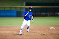 AZL Cubs center fielder Chris Singleton (16) hustles towards third base against the AZL Giants on July 17, 2017 at Sloan Park in Mesa, Arizona. AZL Giants defeated the AZL Cubs 12-7. (Zachary Lucy/Four Seam Images)
