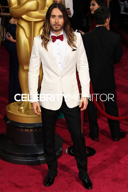 HOLLYWOOD, LOS ANGELES, CA, USA - MARCH 02: Jared Leto at the 86th Annual Academy Awards held at Dolby Theatre on March 2, 2014 in Hollywood, Los Angeles, California, United States. (Photo by Xavier Collin/Celebrity Monitor)