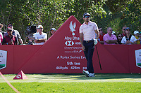Raffa Cabrera Bello (ESP) on the 4th tee during Round 2 of the Abu Dhabi HSBC Championship 2020 at the Abu Dhabi Golf Club, Abu Dhabi, United Arab Emirates. 17/01/2020<br /> Picture: Golffile   Thos Caffrey<br /> <br /> <br /> All photo usage must carry mandatory copyright credit (© Golffile   Thos Caffrey)