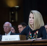 WASHINGTON, DC - NOVEMBER 8:  Marissa Mayer, former CEO of Yahoo testifies at a Congressional hearing on Consumer Data breach.The hearing features testimony from a current and a former official who worked on the response to Yahoo!ís 2013 data breach, which the company announced only last month affected all 3 billion user accounts, as well as the current and former CEO of Equifax, which suffered a 2017 breach reported to affect approximately 145 million individuals, including sensitive personal and financial information.   Credit: Patsy Lynch/MediaPunch