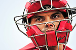 "15 August 2010: Washington Nationals catcher Ivan ""Pudge"" Rodriguez in action against the Arizona Diamondbacks at Nationals Park in Washington, DC. The Nationals defeated the Diamondbacks 5-3 to take the rubber match of their 3-game series. Mandatory Credit: Ed Wolfstein Photo"