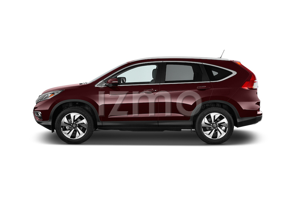 Car Driver side profile view of a 2015 Honda Cr-V Touring 5 Door Suv 2WD Side View