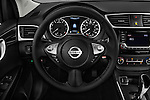 Car pictures of steering wheel view of a 2017 Nissan Sentra SV 4 Door Sedan Steering Wheel