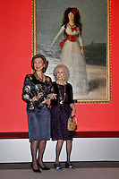 Queen Sofia of Spain and Duchess of Alba, Cayetana Fitz-James Stuart attend 'El Legado Casa de Alba' Art exhibition at the Palacio de Cibeles . December 18, 2012. (ALTERPHOTOS/Caro Marin) /NortePHOTO
