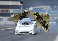 Sep 14, 2019; Mohnton, PA, USA; NHRA funny car driver John Force during qualifying for the Reading Nationals at Maple Grove Raceway. Mandatory Credit: Mark J. Rebilas-USA TODAY Sports