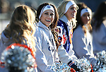Bishop Gorman cheerleaders work the sidelines of an NIAA Division I playoff game at Reed High School in Sparks, Nev., on Saturday, Nov. 28, 2015. Bishop Gorman won 41-13. (Cathleen Allison/Las Vegas Review-Journal)