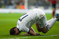 Arbeloa is knocked near to penalty area