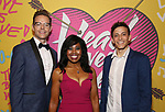 Gavin Lodge, Sharon Catherine Brown and Brian Flores attends the Opening Night Performance After Party for  'Head Over Heels' at Gustavino's  on July 26, 2018 in New York City.
