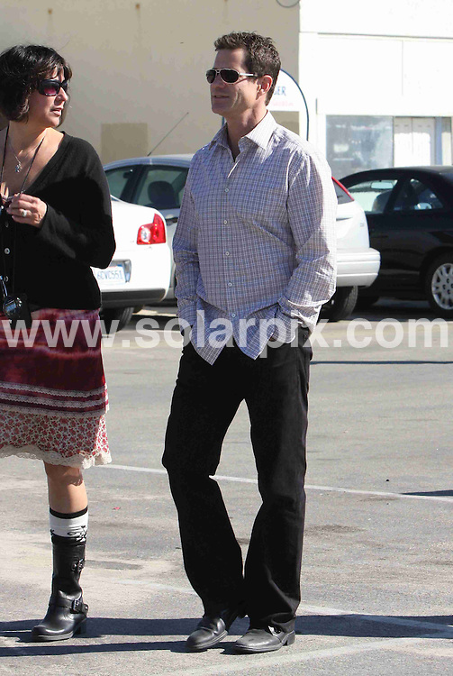 **ALL ROUND EXCLUSIVE PICTURES FROM SOLARPIX.COM**.**WORLDWIDE SYNDICATION RIGHTS**.**NO PUBLICATION IN AUSTRALIA, NEW ZEALAND,.DENMARK, GERMANY OR USA**.Dylan Walsh takes a break from filming the series Nip Tuck in Los Angeles, California, USA. 18th November 2008..JOB REF: 7945 LAP (MD)     DATE: 18_11_2008.**MUST CREDIT SOLARPIX.COM OR DOUBLE FEE WILL BE CHARGED* *UNDER NO CIRCUMSTANCES IS THIS IMAGE TO BE REPRODUCED FOR ANY ONLINE EDITION WITHOUT PRIOR PERMISSION*
