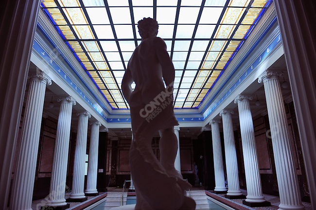 The pool area in the highest category baths at the Sandunovsky Baths in Moscow, Russia, July 21, 2009