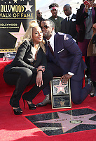 HOLLYWOOD, CA - JANUARY 11: Sean Combs, Mary J. Blige, at Mary J. Blige Is Honored With A Star On The Hollywood Walk of Fame at On The Hollywood Walk of Fame in Hollywood, California on January 11, 2018. <br /> CAP/ADM/FS<br /> &copy;FS/ADM/Capital Pictures