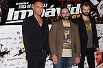 26.07.2012. Premier at Palafox Cinema in Madrid of the movie 'Impavido´, directed by Carlos Theron and starring by Marta Torne, Selu Nieto, Nacho Vidal, Carolina Bona, Julian Villagran and Manolo Solo. In the image Nacho Vidal, Carlos Theron and Julian Villagran (Alterphotos/Marta Gonzalez)