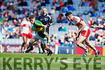Jack Griffin Kerry in action against Conor Quinn Derry in the All-Ireland Minor Footballl Final in Croke Park on Sunday.