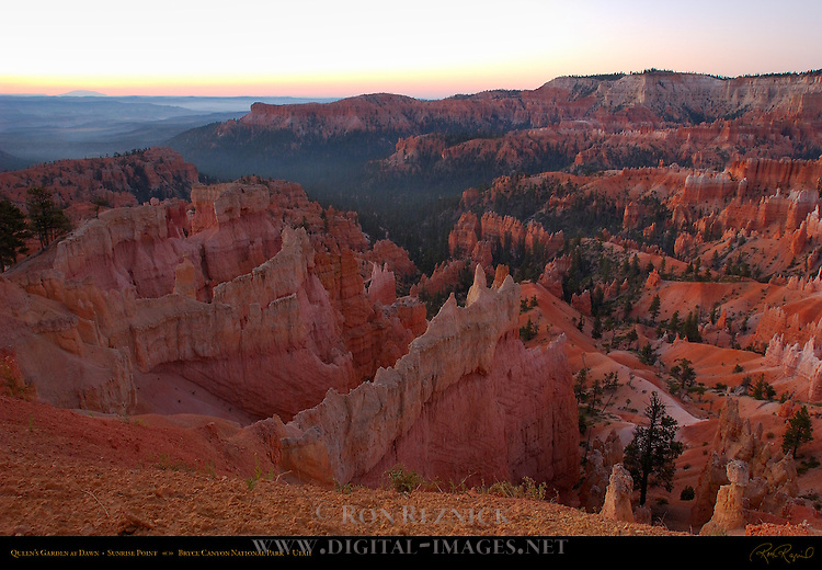 Queen's Garden at Dawn from Sunrise Point, Bryce Canyon National Park, Utah