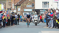 Picture by Allan McKenzie SWpix.com - 03/05/2018 - Cycling - 2018 Tour de Yorkshire - Stage 1: Beverley to Doncaster - Harry Tanfield comes through Pocklington, crowds, fans.