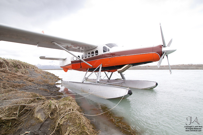 DeHavilland Otter Floatplane in Alaska, at Katmai National park