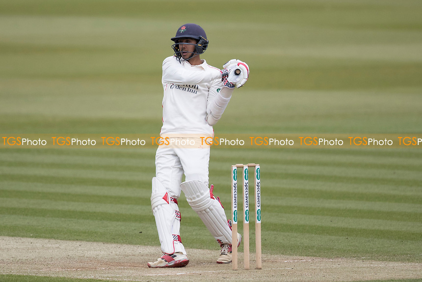 Haseeb Hameed of Lancashire CCC brought up his century with a pulled six of Roland - Jones during Middlesex CCC vs Lancashire CCC, Specsavers County Championship Division 2 Cricket at Lord's Cricket Ground on 12th April 2019