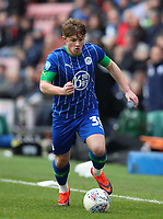 8th February 2020; DW Stadium, Wigan, Greater Manchester, Lancashire, England; English Championship Football, Wigan Athletic versus Preston North End; Joe Gelhardt of Wigan Athletic runs with the ball