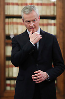 Il Ministro dell'Economia e delle Finanze francese Bruno La Maire, french Minister of Economy<br /> Roma 01/02/2018. Incontro di lavoro sul progetto di cooperazione industriale nel settore navale militare (Fincantieri Naval Group).<br /> Rome February1st 2018. Meeting on the project of cooperation between Italy and France in the naval- military sector (Fincantieri and Naval Group).<br /> Foto Samantha Zucchi Insidefoto
