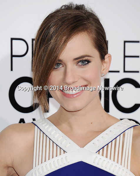 Pictured: Allison Williams<br /> Mandatory Credit &copy; Gilbert Flores /Broadimage<br /> 2014 People's Choice Awards <br /> <br /> 1/8/14, Los Angeles, California, United States of America<br /> Reference: 010814_GFLA_BDG_157<br /> <br /> Broadimage Newswire<br /> Los Angeles 1+  (310) 301-1027<br /> New York      1+  (646) 827-9134<br /> sales@broadimage.com<br /> http://www.broadimage.com