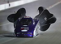 Nov 1, 2019; Las Vegas, NV, USA; NHRA top alcohol funny car driver Steve Macklyn during qualifying for the Dodge Nationals at The Strip at Las Vegas Motor Speedway. Mandatory Credit: Mark J. Rebilas-USA TODAY Sports