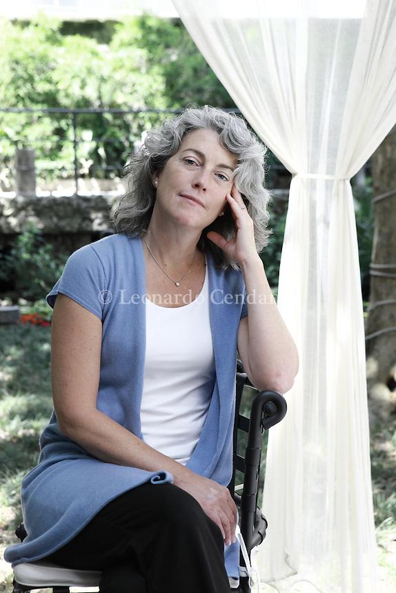 Milan, Italy, 2009. Erica Bauermeister, American writer born in Pasadena, California.