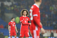 Ethan Ampadu of Wales during the International Friendly match between Wales and Panama at The Cardiff City Stadium, Wales, UK. Tuesday 14 November 2017