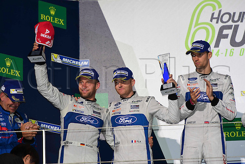 16.10.2016. Fuji Speedway in Oyama, Shizuoka, Japan. WEC 6 Hours of Fuji race day.  #66 FORD CHIP GANASSI TEAM UK (USA) FORD GT LMGTE PRO STEFAN MUCKE (DEU) OLIVIER PLA (FRA) SECOND PLACE GTE PRO