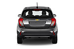 Straight rear view of a 2019 Chevrolet Spark 1LT 5 Door Hatchback stock images