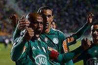 ATENÇÃO EDITOR: FOTO EMBARGADA PARA VEÍCULOS INTERNACIONAIS - SÃO PAULO, SP, 29 DE SETEMBRO DE 2012 - CAMPEONATO BRASILEIRO - PALMEIRAS x PONTE PRETA: Marcos Assunção comemora seu gol durante partida Palmeiras x Ponte Preta, válida pela 27ª rodada do Campeonato Brasileiro no Estádio do Pacaembú. FOTO: LEVI BIANCO - BRAZIL PHOTO PRESS