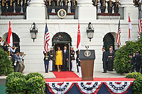 Washington DC, August 2, 2016, USA:President Barack Obama and First Lady Michelle Obama  get ready to welcome Prime Minister Lee Hsien Loong of Singapore, to the White House for an official visit. Patsy Lynch/MediaPunch