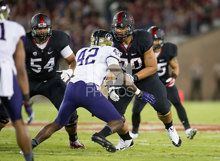 STANFORD, CA - October 5, 2013:  The Stanford Cardinal vs the Washington Huskies at Stanford Stadium in Stanford, CA. Final score Stanford Cardinal 31, Washington Huskies  28.