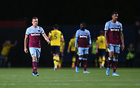 Dejection for West Ham United<br /> <br /> Photographer Rob Newell/CameraSport<br /> <br /> The Carabao Cup Third Round - Oxford United v West Ham United - Wednesday 25th September 2019 - Kassam Stadium - Oxford<br />  <br /> World Copyright © 2019 CameraSport. All rights reserved. 43 Linden Ave. Countesthorpe. Leicester. England. LE8 5PG - Tel: +44 (0) 116 277 4147 - admin@camerasport.com - www.camerasport.com