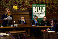 "19.04.2012 - NUJ presents: ""Defending Journalism - Protecting journalist sources and material"""