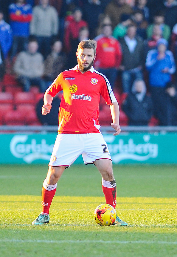 Crewe Alexandra's Jamie Ness in action during todays match  <br /> <br /> Photographer Craig Thomas/CameraSport<br /> <br /> Football - The Football League Sky Bet League One - Crewe Alexandra v Preston North End - Sunday 28th December 2014 - Alexandra Stadium - Crewe<br /> <br /> &copy; CameraSport - 43 Linden Ave. Countesthorpe. Leicester. England. LE8 5PG - Tel: +44 (0) 116 277 4147 - admin@camerasport.com - www.camerasport.com