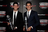 IMSA WeatherTech SportsCar Championship<br /> Night of Champions<br /> Road Atlanta, Braselton GA<br /> Monday 9 October 2017<br /> Ricky and Jordan Taylor with Championship trophies<br /> World Copyright: Michael L. Levitt<br /> LAT Images