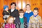 Luke O'Carroll, Roisin Wall, Abbey Logan, Brendan Wall and Daniel O'Donoghue Glenflesk enjoying the Marian Players Mother Goose pantomime in Rathmore Community Centre on Sunday