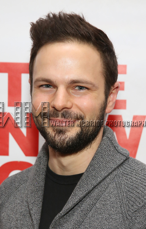 "Jon Orsini attends The New Group presents the New York Premiere Opening Night of David Rabe's for ""Good for Otto"" on March 8, 2018 at the Green Fig Urban Eatery,  in New York City."