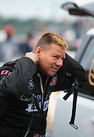 Mar 17, 2019; Gainesville, FL, USA; NHRA funny car driver Jim Campbell during the Gatornationals at Gainesville Raceway. Mandatory Credit: Mark J. Rebilas-USA TODAY Sports