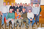 Tom Dennehy, winner of the Upper Blackwater Anglers outing in Killarney on Sunday, pictured with Kieran Casey, club chairman, at their prizegiving in Darby O'Gills Hotel, Killarney on Sunday evening. Also pictured are Pat Cotter, Benny O'Dea, Dave O'Donovan, Terence Keane, Steve Campbell, Sean Moran, Denis O'Leary, Denis O'Leary, Tom O'Connor, John Coakley, Tim Ryan, Arthur Murphy, John Harte and Sean Dennehy.