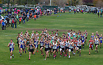 The start of the boys 4A 5K during the Northern Nevada Regional Cross Country meet at Shadow Mountain Park on Friday, October 28, 2016.