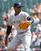 New York Yankees relief pitcher Domingo German (55) works in the first inning against the Baltimore Orioles at Oriole Park at Camden Yards in Baltimore, MD on Sunday, April 7, 2019. <br /> Credit: Ron Sachs / CNP<br /> (RESTRICTION: NO New York or New Jersey Newspapers or newspapers within a 75 mile radius of New York City)