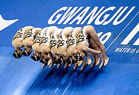 Republic of Korea KOR<br /> BAEK Seoyeon KIM Jihye<br /> KIM Junhee KOO Yemo<br /> LEE Gabin LEE Jae Hyun<br /> LEE Riyoung LEE Youjin<br /> Gwangju South Korea 14/07/2019<br /> Artistic Swimming Team Technical Preliminaries<br /> 18th FINA World Aquatics Championships<br /> Yeomju Gymnasium <br /> Photo © Giorgio Scala / Deepbluemedia / Insidefoto