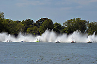"(L to R): Mike Monahan, GP-35 ""TM Special"", GP-773, Mathew Daoust, GP-9, Bert Henderson, GP-777 ""EMS Steeler"", Ken Brodie II, GP-50 ""Intensity"" and Marty Wolfe, GP-93 ""Renegade""  START          (Grand Prix Hydroplane(s)"