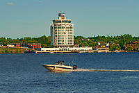 Boats and Inn on Lake of the Woods<br />