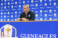 European Captain Paul McGinley press conference during Tuesday's Practice day of the Ryder Cup 2014 played on the PGA Centenary Course at the Gleneagles Hotel, Auchterarder, Scotland.: Picture Eoin Clarke, www.golffile.ie: 23rd September 2014
