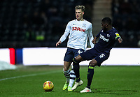 Preston North End's Brad Potts  competing with Derby County's Fikayo Tomori  <br /> <br /> Photographer Andrew Kearns/CameraSport<br /> <br /> The EFL Sky Bet Championship - Preston North End v Derby County - Friday 1st February 2019 - Deepdale Stadium - Preston<br /> <br /> World Copyright © 2019 CameraSport. All rights reserved. 43 Linden Ave. Countesthorpe. Leicester. England. LE8 5PG - Tel: +44 (0) 116 277 4147 - admin@camerasport.com - www.camerasport.com